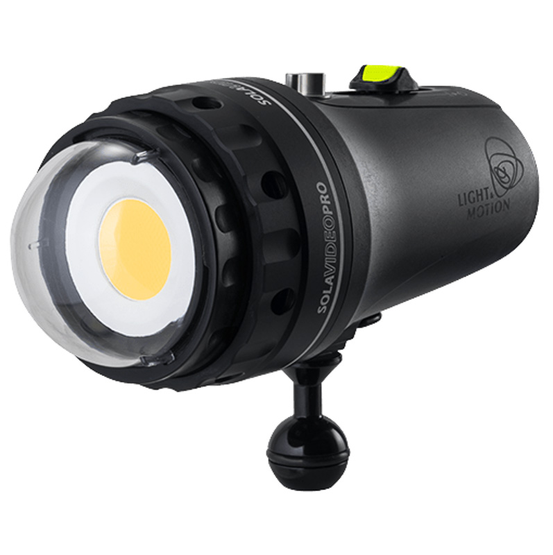 Light & Motion Sola Pro 15000 Video Light with Dome Port underwater