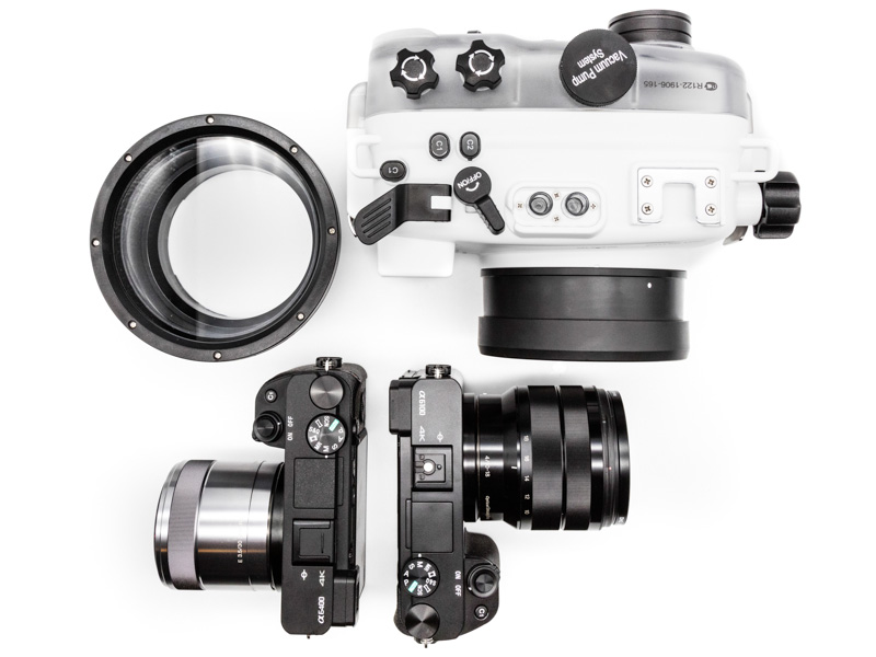 Salted Line Housing with standard port, macro port and Sony's a6100 and a6400