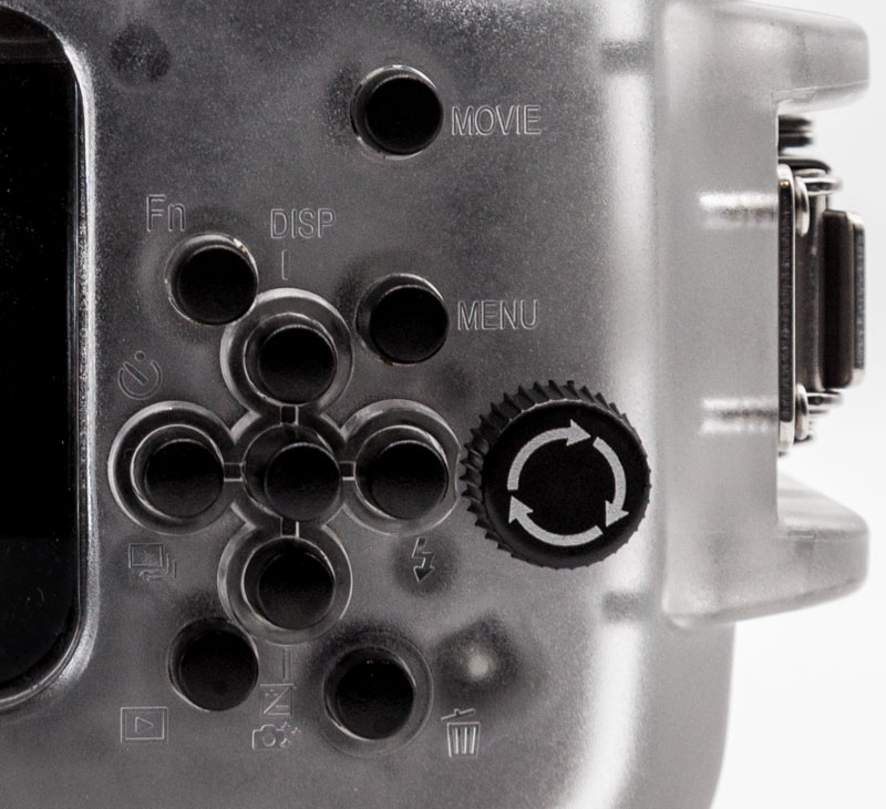 Labeled buttons allow for easy access to camera controls