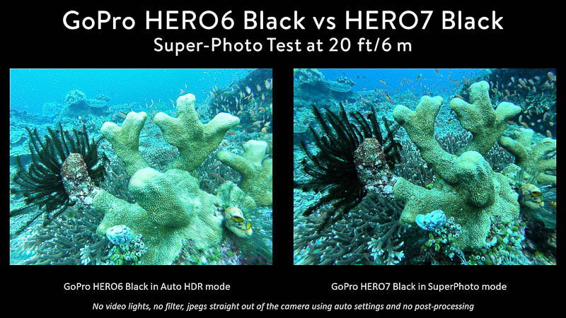 GoPro Hero 7 vs Hero 6 Super-Photo Test