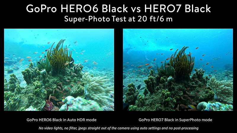 GoPro 7 vs 6 Super-Photo Test Komodo Reef
