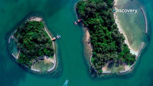 Sisters Islands Marine Park aerial