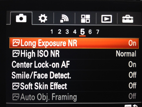Sony RX-100 III Menu Settings
