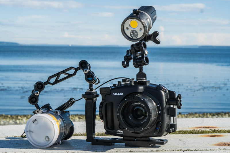 Fantasea a6400 underwater housing with Sony 16-50mm kit lens and port