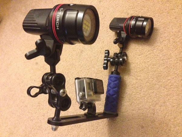 GoPro underwater video lights