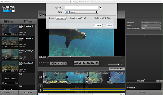 Creating videos with gopro studio 2 0 underwater for How to use gopro studio templates
