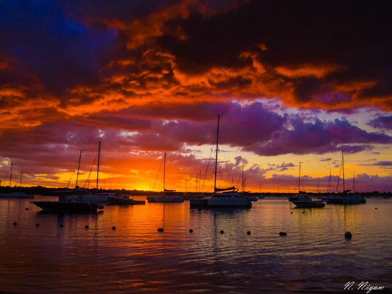 Gand-Baie sunset