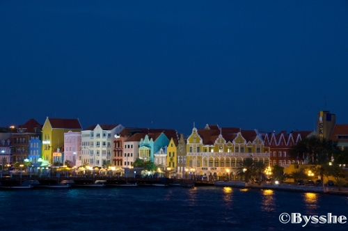 Curacao island night scene
