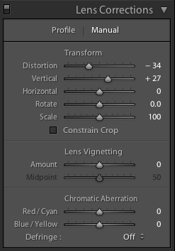 lightroom lens correction screen