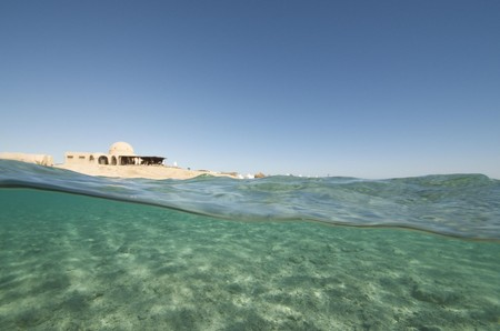 sandy beach in the red sea, egypt
