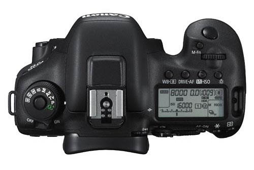 Canon 7D Mark II body top