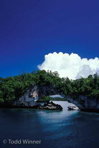 topside scenery at Palau