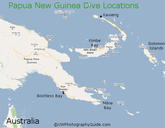 diving png papua new guinea map
