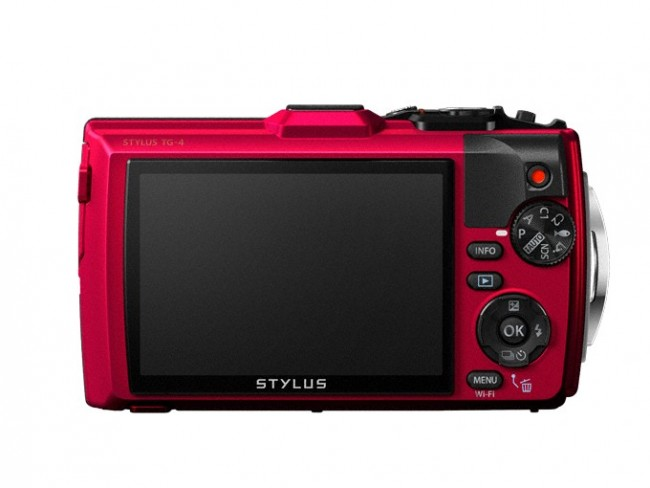 Olympus Tough TG-4 Camera back