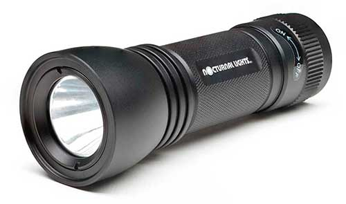 small Nocturnal LED dive light / focus light