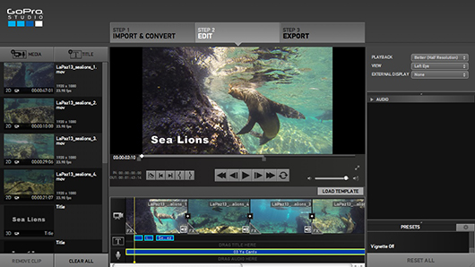 Creating Videos With Gopro Studio 20underwater Photography Guide
