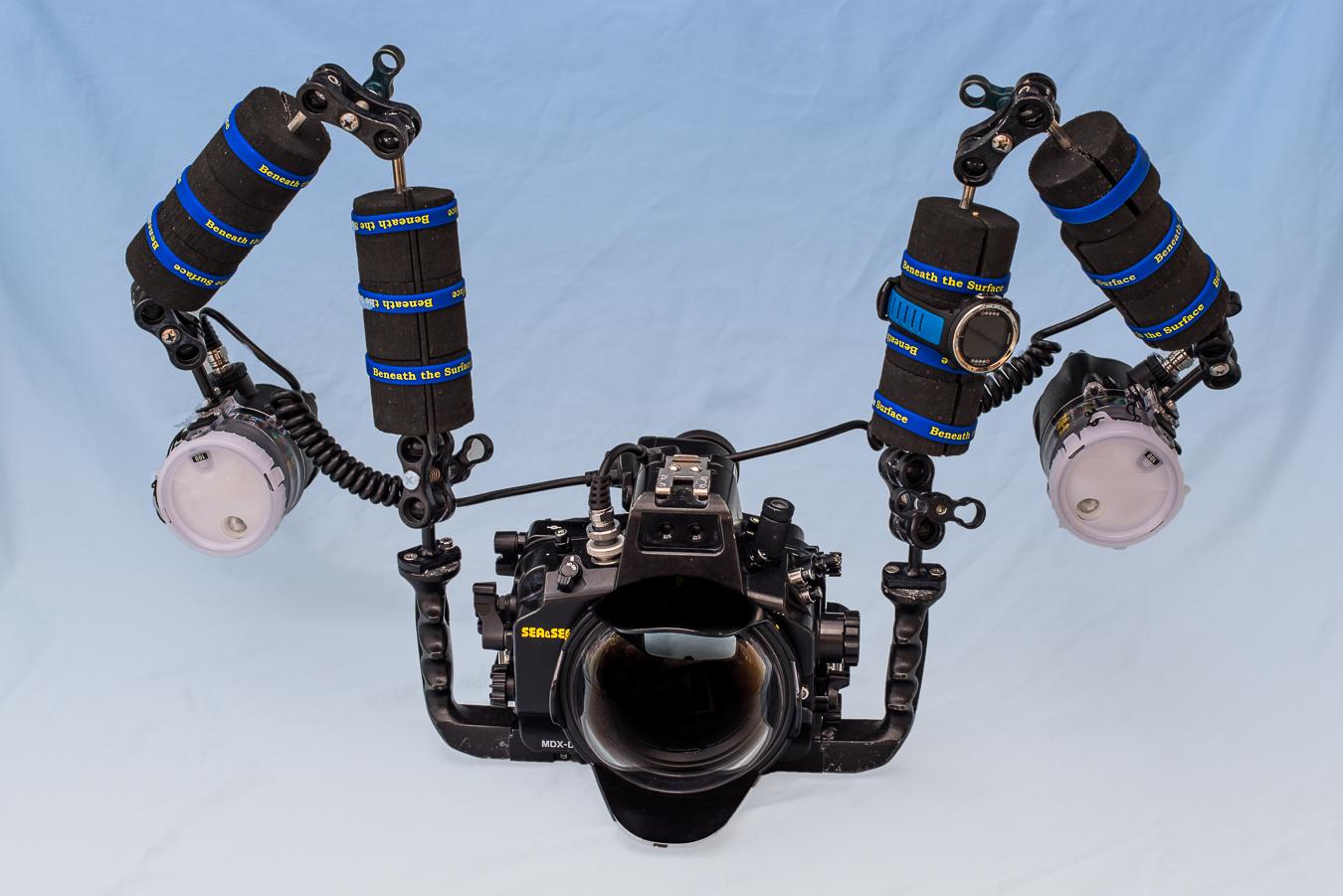 Strobe Positioning for Wide-Angle Underwater - Underwater